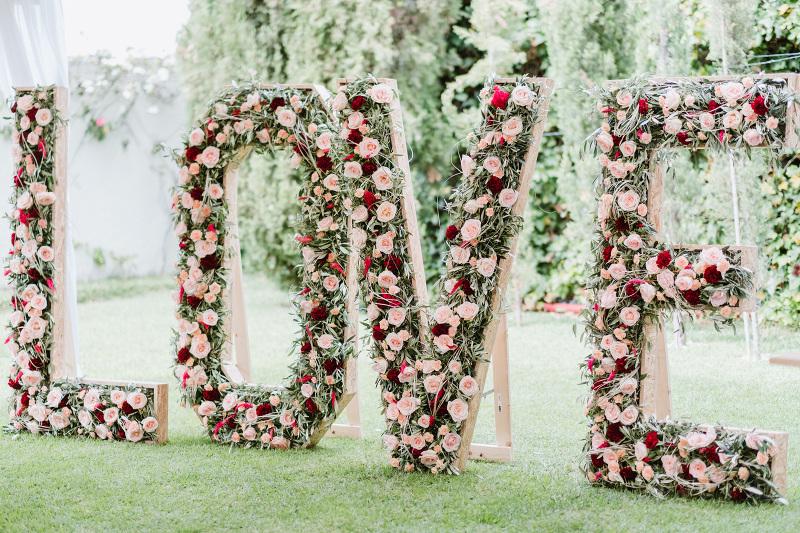 Letras LOVE d-bodas.com