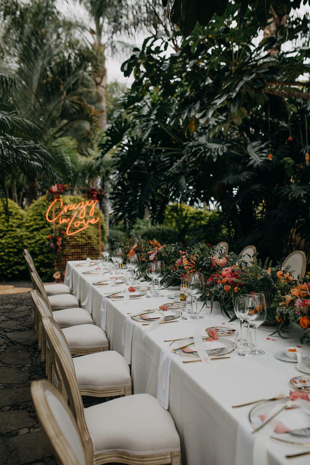 Decoración de bodas en Tenerife